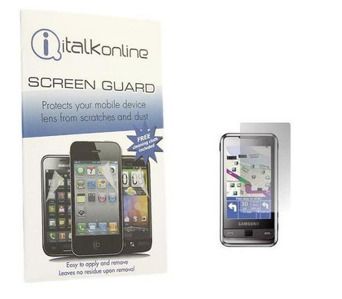 iTALKonline S-Protect LCD Screen Protector and Micro Fibre Cleaning Cloth - For Samsung i900