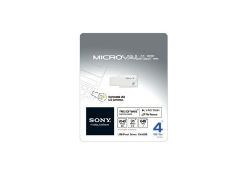 Sony 4GB Micro Vault Style Pen Drive White