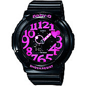 Casio BGA130/1BER Baby-G Watch with World Time - Black/Pink
