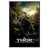 Gloss Black Framed Marvel's Thor The Dark World Loki Poster