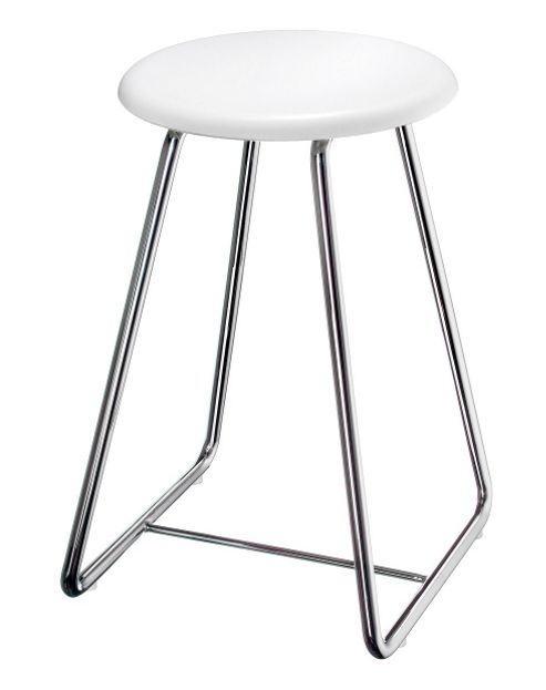 Smedbo Outline Shower Chair Stainless Steel Frame in White