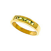 QP Jewellers 0.60ct Peridot Princess Prestige Ring in 14K Gold