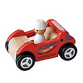 EverEarth Traditional Wooden Toy Red Sports Car for 36m+