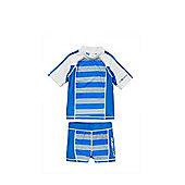 Dudeskin UPF 50+ Sunsafe Surf Suit - Blue & Grey