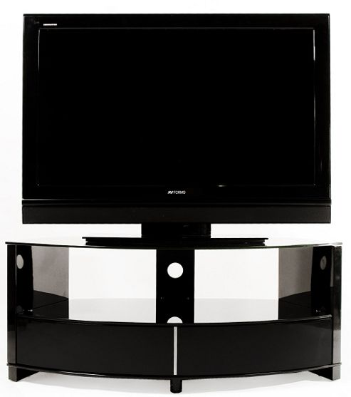 Optimum Preview High Gloss Black Corner TV Stand