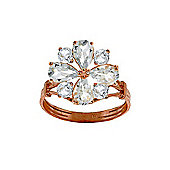 QP Jewellers 2.43ct Aquamarine Rafflesia Ring in 14K Rose Gold
