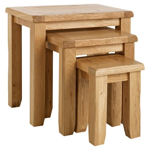 Ametis Westbury Reclaimed Oak Nesting Table