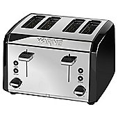 Waring WT400BKU 4 Slice Toaster - Black & Stainless Steel