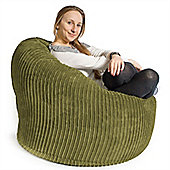 Lounge Pug™ Mini Mammoth Cord Bean Bag - Lime