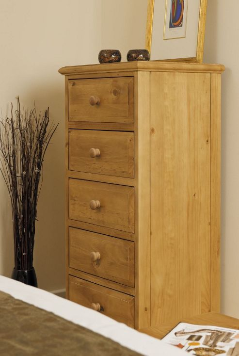 Kelburn Furniture Woodland Pine 5 Wellington Chest