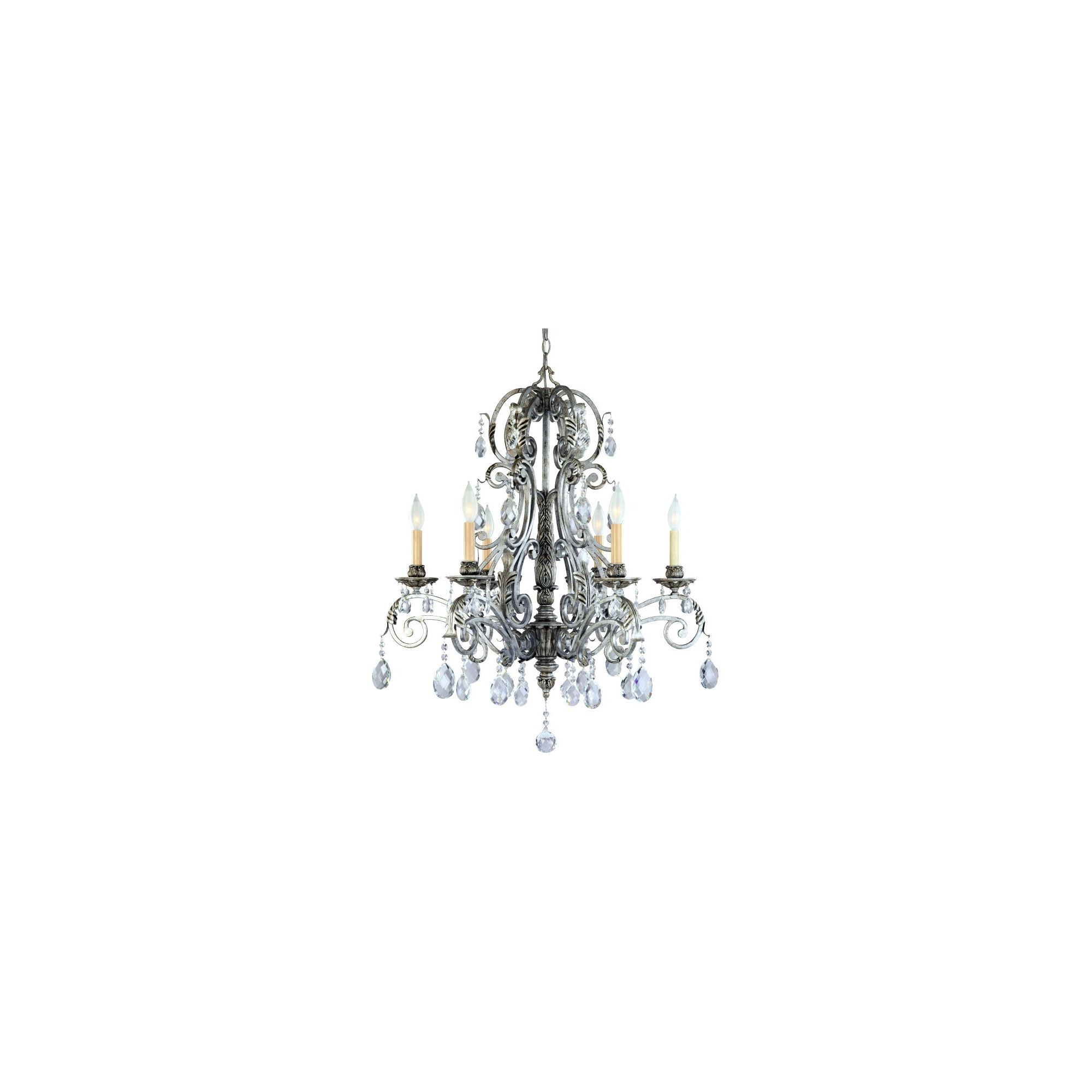 Savoy House Barcelona Six Light Wall Sconce in Distressed Silver at Tesco Direct