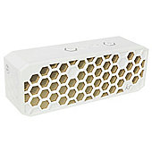 KitSound Hive 2 Bluetooth Speaker, White & Gold