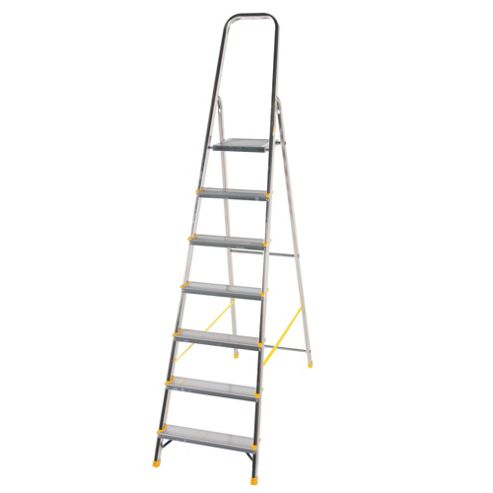 DIY 7 Tread Platform Step Ladder