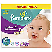 Pampers Active Fit Size 4+ Mega Pack - 74 nappies