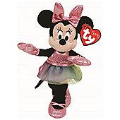 TY Beanie Buddy Minnie Mouse Ballerina Sparkle with Sound