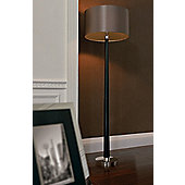 Endon Lighting Floor Lamp in Walnut