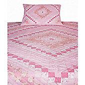 Woven Magic Trip Around The World Pink Quilt - Queen