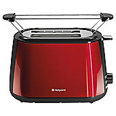 Hotpoint Red Stainless Steel 2 Slice Toaster