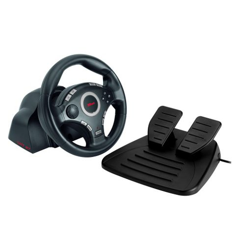 GXT 27 Force Vibration Steering Wheel for PS3/2 & PC