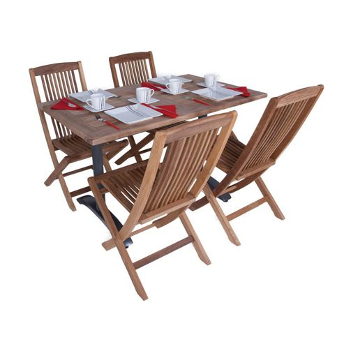 Teak Bistro Set 21 - Outdoor/Garden table and Chair set.