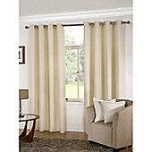 KLiving Manhattan Plain Panama Unlined Eyelet Curtain 65 x 72 Cream