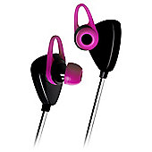 Kitsound Trail Wireless/Bluetooth Sports Headphones, Pink & Black