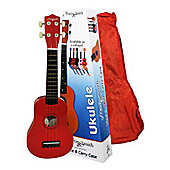Martin Smith Standard Soprano Ukulele with Bag - Red