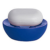 Spirella Bowl Rubber Soap Dish - Blue