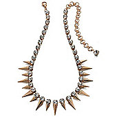 Fiorelli Gold and Crystal Spike Necklace
