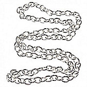 Chunky Link Chain - Silver - 1mt