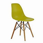 Eames DSW Replica Dining Chair Lemon Lime