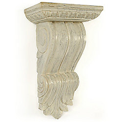 Papa Theo Windsor Large Corbel in Antique White finish