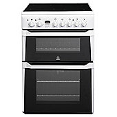 Indesit ID60C2(W)S White Electric Cooker, Double Oven