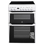 Indesit ID60C2(W)S, White, Electric Cooker, Double Oven, 60cm