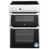 Indesit Electric Cooker with Electric Grill and Ceramic Hob, ID60C2(W) S - White