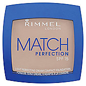 Rimmel MATCH PERFECTION CREAM COMPACT - LIGHT PORCELAIN