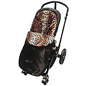 Animal Print Padded Footmuff To Fit Silver Cross Leopard