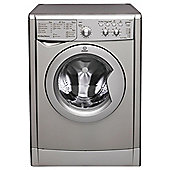 Indesit IWC61651S Washing Machine, 6kg Load, 1600 RPM Spin, A+ Energy Rating, Silver