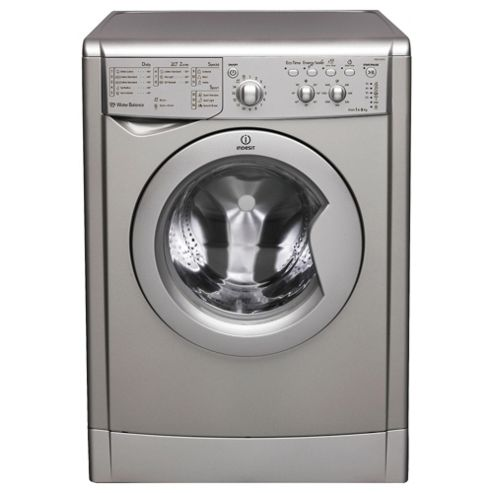 Indesit IWC61651S Washing Machine, 6Kg Wash Load, 1600 RPM Spin, A+ Energy Rating, Silver