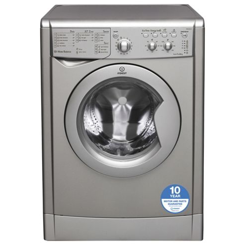 Indesit Ecotime Washing Machine,  IWC61651SECO, 6KG Load, Silver