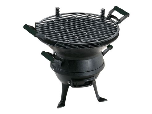 Landman Cast Iron Barrel Barbecue, Black