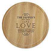 Personalised Full of Love Round Chopping Board