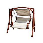 Bentley Garden Wooden Swing Seat With Canopy
