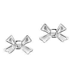 Jo For Girls Silver Bow Stud Earrings