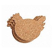 TG - Cork - Coasters - Set 4 Chicken