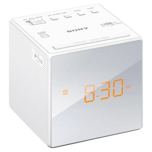 buy sony icfc1 clock radio white from our portable radio range tesco. Black Bedroom Furniture Sets. Home Design Ideas