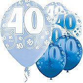 40th 12' Latex Balloons (6pk)