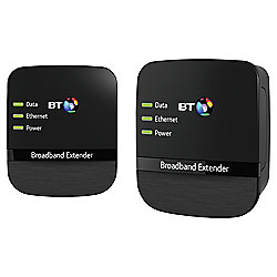 BT Broadband Extender 500 Kit, Powerline Adapter - Black