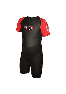 Childs Shortie 2.5mm Black/Red Age 9/10