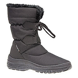 Pavers Winter Boot with Double Tab & Lace Detail Black - 6